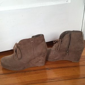 Beige Merona ankle boots size 7